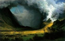 Albert Bierstadt, Storm in the Mountains