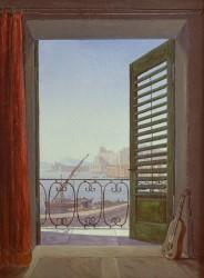 Carl Gustav Carus, Balkon in Neapel