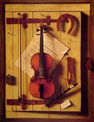 William M. Harnett, Still Life - Violin and Music