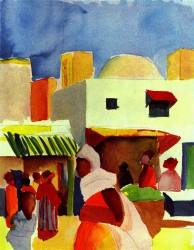 August Macke, Markt in Algier