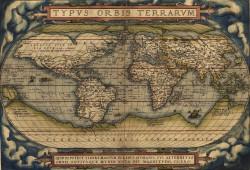 Abraham Ortelius Weltkarte von 1570