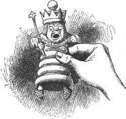 Sir John Tenniel, The White King. Illustration aus Lewis Carroll, Through the Looking-Glass