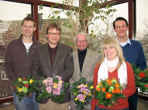 Frank Wilsmann, Dietmar Schade, Thomas Schäffer (?), Katja Wesemann und Christopher Snigula (v.l.) (Foto: Oliver Rachner)