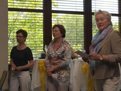 Wurden 2013 verabschiedet: Dietlinde Seifert, Gabriele Bracht und Annette Knufinke-Lütgert (v.l.) (Foto: Thomas Göhler)