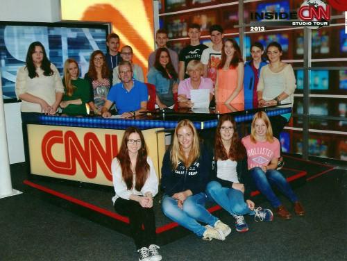 Auch ein Besuch beim amerikanischen Nachrichtensender CNN stand auf dem Programm (Foto: CNN)