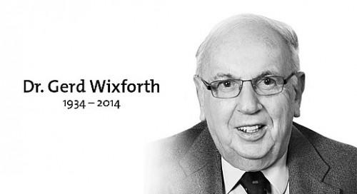 Dr. Gerd Wixforth (1934-2014)