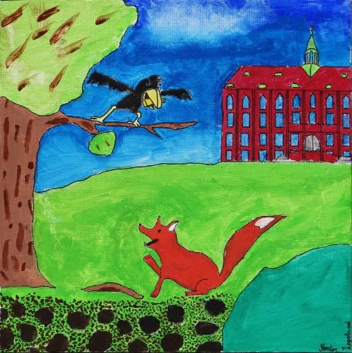 Der Fuchs und der Rabe (Nestor Legeland, Klasse 6d)