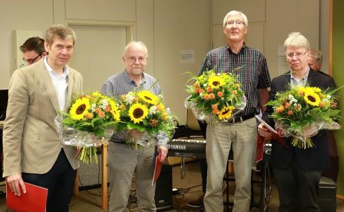 Wurden verabschiedet: Reinhard Pelkmann, Klaus Pache, Andreas Czaja und Hans-Werner Küster (v.l.) (Foto: Thomas Göhler)