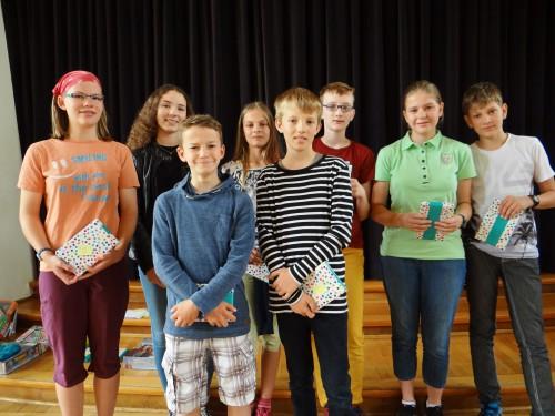 Die Sieger der Regionalrunde des Landeswettbewerbs Mathematik 2016 (Foto: Oliver Rachner)